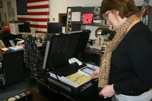 Logan County Election Board Secretary Erin Dorio. Photo By Chris Evans