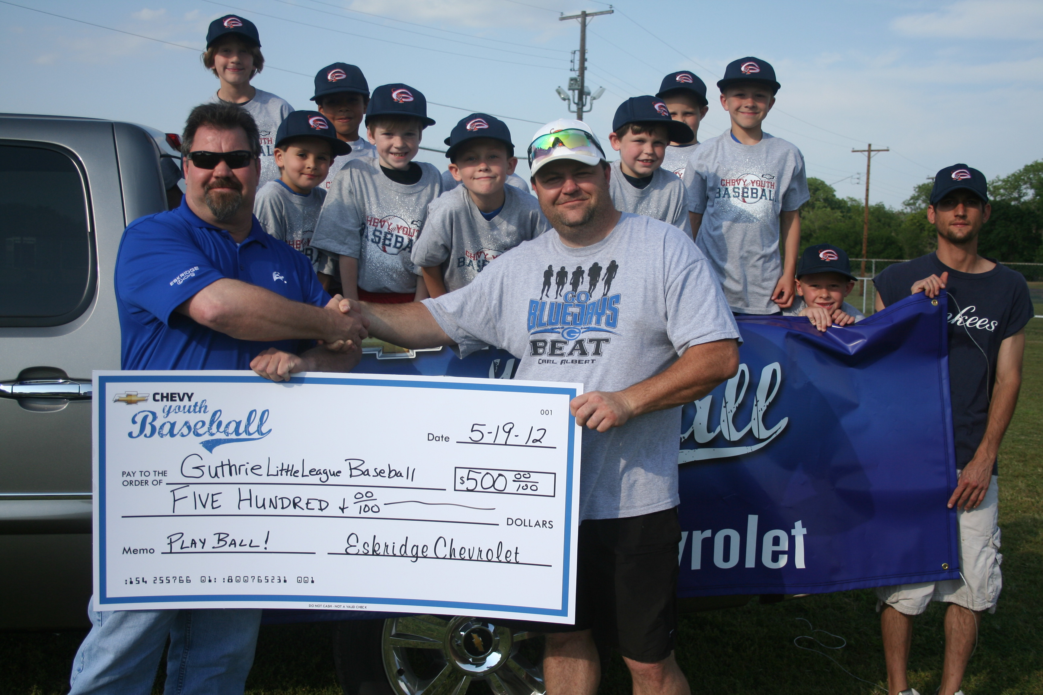 local dealership continues sponsorship with baseball guthrie news page guthrie news page wordpress com