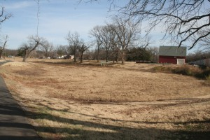 The Mineral Wells Park pond continues to remain dry since earlier this summer. Photo By Chris Evans