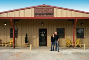 Corey and Tasie Bertrand knew not rebuilding was not an option following a tornado demolishing their vet.