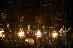 """Mumford & Sons played their popular hit """"I Will Wait"""" at the 2013 Grammy Awards."""