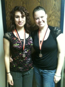 Kirsten Ince and Denise Ortega placed 3rd in Humorous Duet.