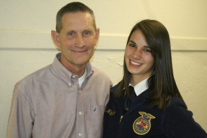 Kaylea Hopfer, pictured with GHS teacher Craig Smith, took first place with her soil conservation speech.