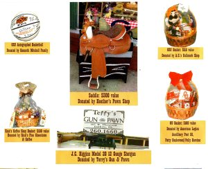 Above are just a few of the over 50 items that will be included in the Annual '89er Celebration Auction held during the Chuck Wagon Feast, Tuesday, April 16th at 5 p.m. at the Fairgrounds.