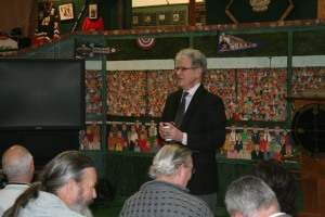 Sen. Tom Coburn visited with several Guthrie residents on the issues facing our government today.