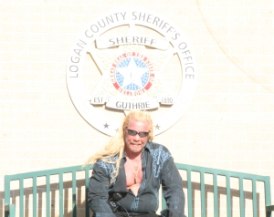 "Duane ""Dog"" Chapman and crew were in Guthrie on April 13 to helping Bc Bail Bonds capture a criminal for their new show Dog and Beth: On The Hunt that airs on CMT at 7 p.m. Central. Photo By Chris Evans"