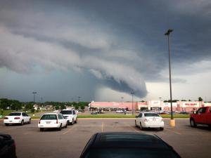 Libby McFarland captured this lowering as it went through downtown Guthrie last year.