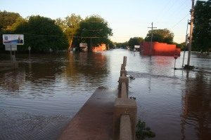 Guthrie's west side was under water for 19 hours before the Cottonwood went back into its banks.