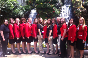 From left to right: Hayley Taylor, Hope Watkins, Sarah Datin, Elizabeth Shafer, Necole Rose, Megan Bishop, Samantha Adair, Tori Slawson, Mary Loveless, Lauren Toney, Maci Hirzel, Brooke Black, Brittany Canales and Abby Maker.