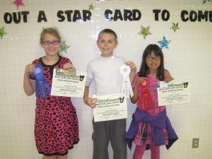 (L-R)  Joycelynn Ruttman, Logan Allsbrook and Jimena Ocampo