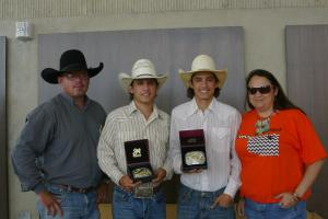 Wyatt (second from left) and Mike (third from left) are competing in the NHSRA finals.