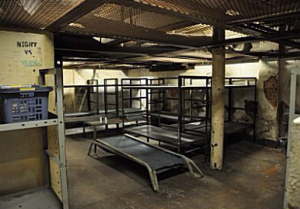A view of the old Logan County Jail space.