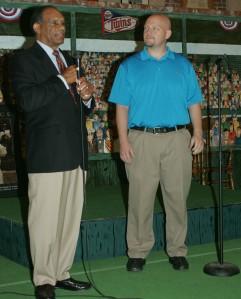 Langston AD Mike Garrett introduces men's head coach Stan Holt.