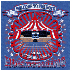 Front of the 2014 Homecoming t-shirt.