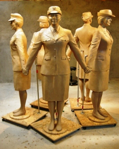 Del City's Women Veteran Monument in clay before being cast in bronze at The Bronze Horse Foundry in Pawhuska, Okla. by John Free Jr. and artisans. The monument will be dedicated Nov. 11 in Patriot Park in Del City, Okla. Photo by Joel Randell.