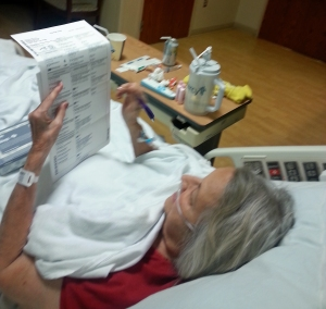 Flo Olds fills out her ballot for the 2014 Genera Election. She has voted each time since 1944.