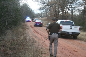 A suspect was found near Territorial Road and Pine St.