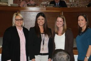 Left to Right: Jana Frey, Emily Turner, Amanda Perring and Trisha Hunter.