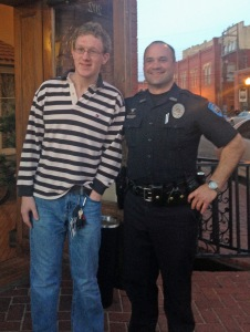 Nick Fisher was stunned to hear he would get a chance to patrol the streets with Guthrie police officer Jason Hamilton.
