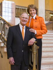 Oklahoma State University President Burns Hargis and his wife Ann will serve as the parade grand marshals of the 89er Days Celebration in Guthrie. The Burns' will appear in the annual parade on Saturday, April 18 at noon.